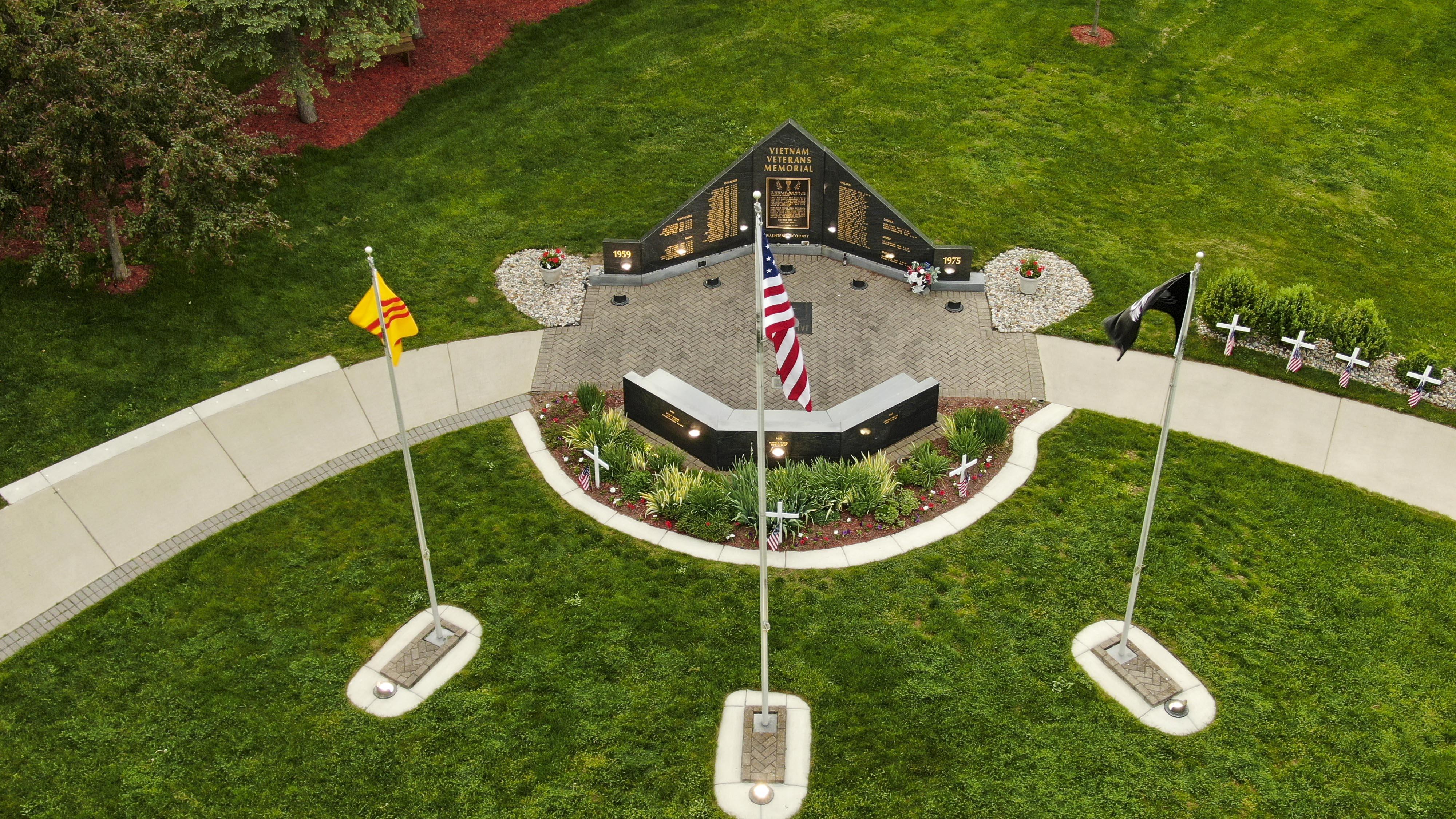 Memorial S Drone Views